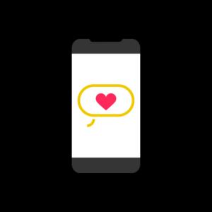 Telefon mit Herz