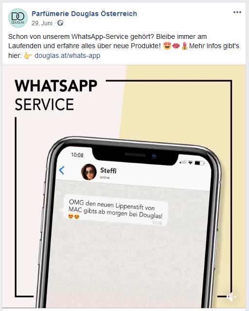 WhatsApp Kanal bewerben LandingPage FB Beitrag