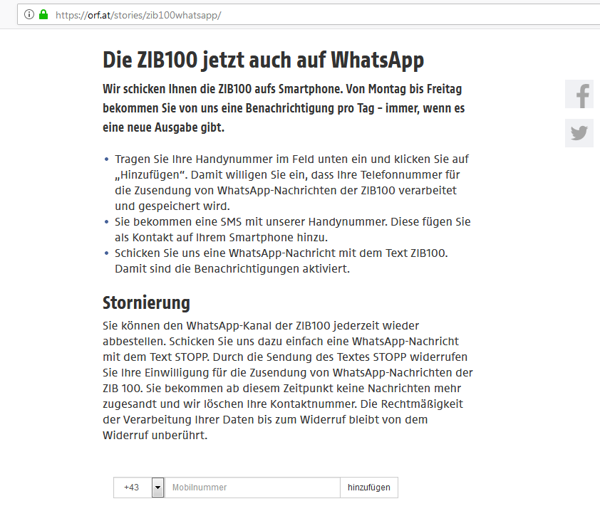 WhatsApp Kanal bewerben LandingPage