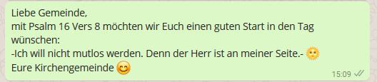 WhatsApp für Kirchen schöne Gedanken