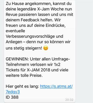 WhatsApp für Events Feedback einholen
