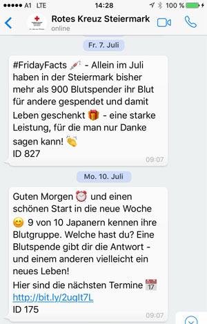 WhatsApp für NGOs - Erinnerungen