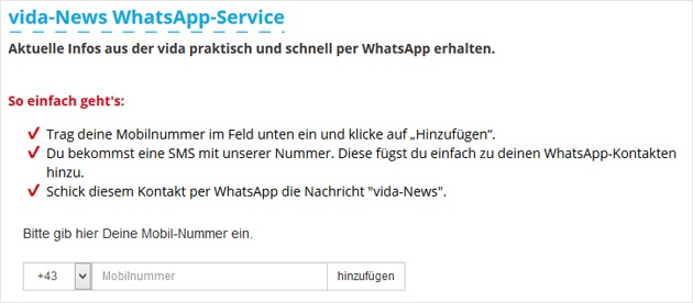 Gewerkschaft vida auf WhatsApp - powered by WhatsATool