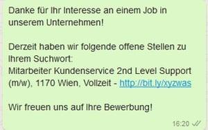 Einfache Benachrichtigung über Jobs mit einem Jobalarm.