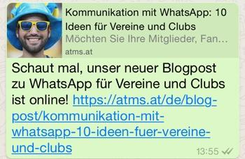 Whatsapp für interne Kommunikation - Austausch von Teams und Abteilungen