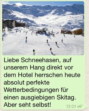 Wetterdienst inkl. Bilder per WhatsApp