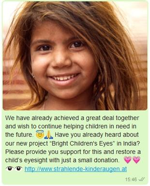 whatsapp for ngos - raising awareness